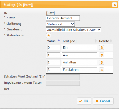 Create selection field